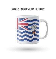 British indian ocean territory flag souvenir mug vector