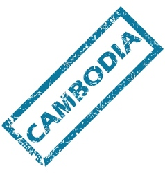 Cambodia rubber stamp vector image vector image
