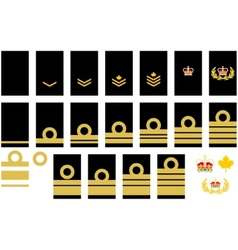 Canadian Navy insignia vector image vector image