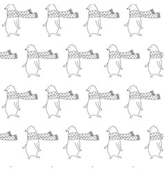 cartoon bear seamless pattern vector image vector image