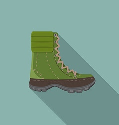 Flat design modern of trekking boot icon camping vector