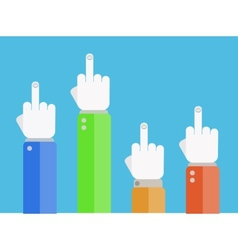 Flat finger up icons set eps 10 vector