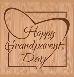 Happy grandparents day lettering vector