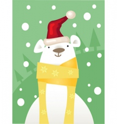 ice bear vector image vector image