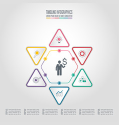infographic business concept with 6 options vector image vector image