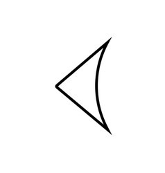 Left arrow modern icon vector