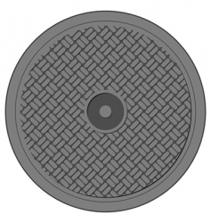 manhole cover vector image