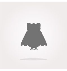Owl - icon web button isolated Web Icon vector image vector image