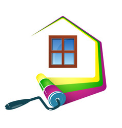 Painting home design vector