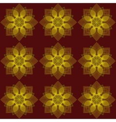 Pattern flowers on a red background vector image vector image