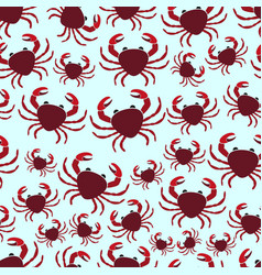 red crab sea animal simple seamless pattern eps10 vector image vector image