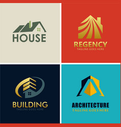 regency house building logos vector image vector image