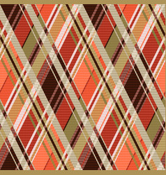 Rhombic tartan seamless texture mainly in brown vector