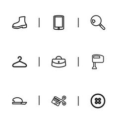 Set of 9 editable business outline icons includes vector