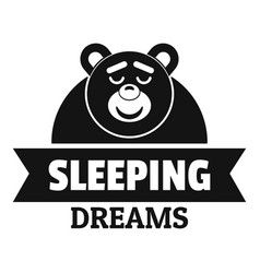 Sleeping dream logo simple black style vector