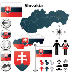 Slovakia map vector image vector image