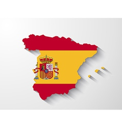 Spain map with shadow effect vector