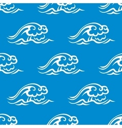 Stormy ocean waves seamless pattern vector image