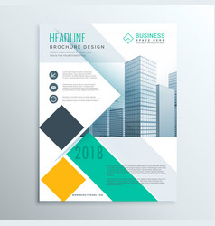 stylish business brochure flyer template with vector image vector image