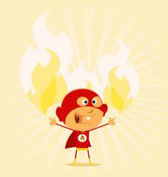 super kid powers vector image vector image