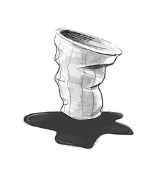 Used cup for take away drinks vector
