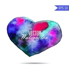 Watercolor painted colorful heart element vector