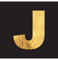 Uppercase letter j of the english alphabet vector