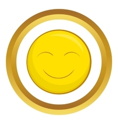 Smiley face icon vector