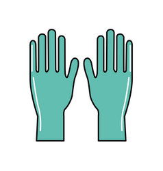 medical latex gloves to protection hands vector image