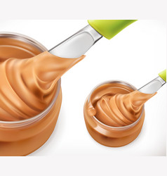 Peanut butter 3d icon vector