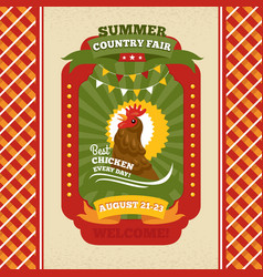 Country fair vintage invitation card vector
