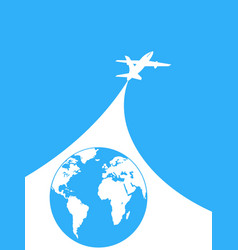 blue and white airplane background vector image