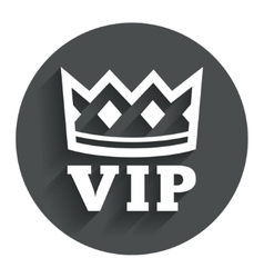 Vip sign icon membership symbol vector