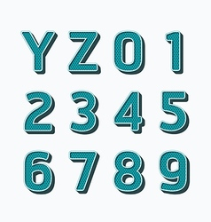 Alphabet set type fonts set dot colour style vector