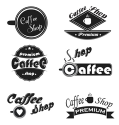 Caffee icons set on a white background vector
