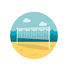 Volleyball net beach sport flat icon vector