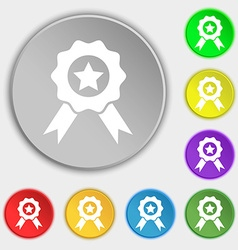 Award medal of honor icon sign symbols on eight vector
