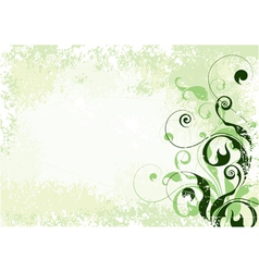 composition from flowers vector image
