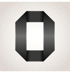 Number metal ribbon - 0 - zero vector image