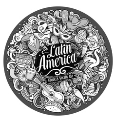 Latin america hand drawn doodle vector