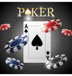Poker design cards and chips concept  casino vector