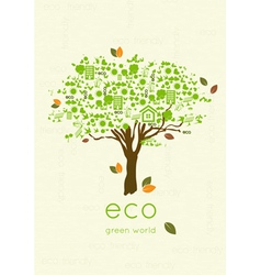 Eco friendly tree vector