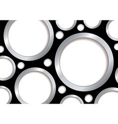 Silver bubble background vector