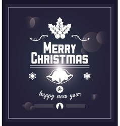 Decoration icon merry christmas design vector