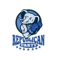 Republican elephant mascot boxer vector