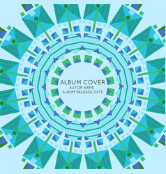 Abstract album cover presentation template vector