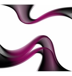 Abstract smooth lines dark purple backgroun vector