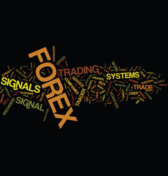 Automated wealth forex signals text background vector