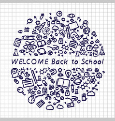 back to school banner signboard vector image vector image