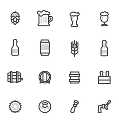 Beer icons labels signs symbols and vector
